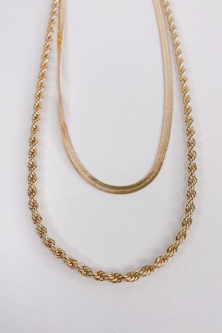 Better Days Layered Rope Necklace - Gold