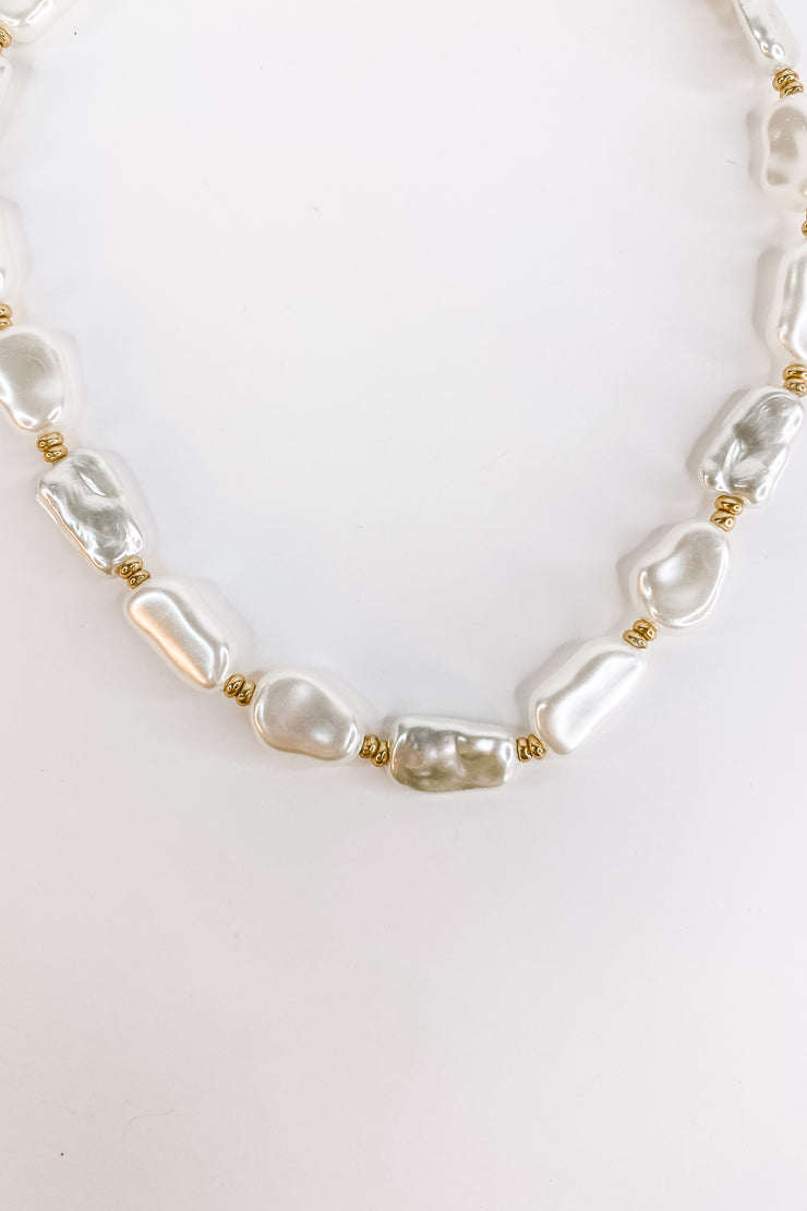 Ava Pearl Bead Necklace