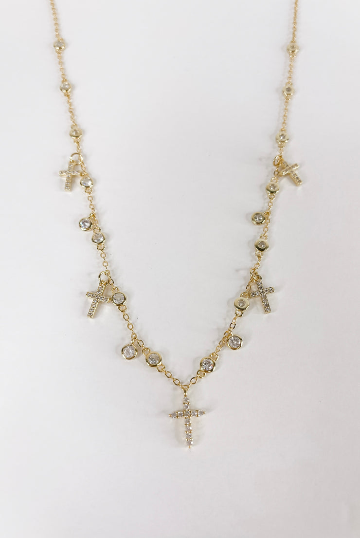 Abundant Cross Necklace | Bracha