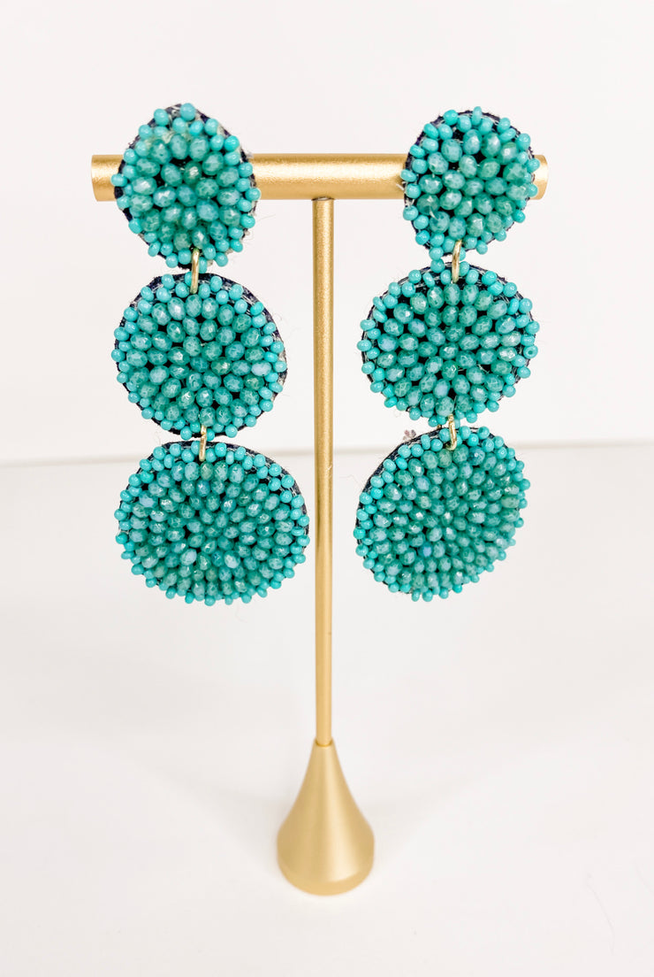 Millie Bead Earring - Turquoise - FINAL SALE
