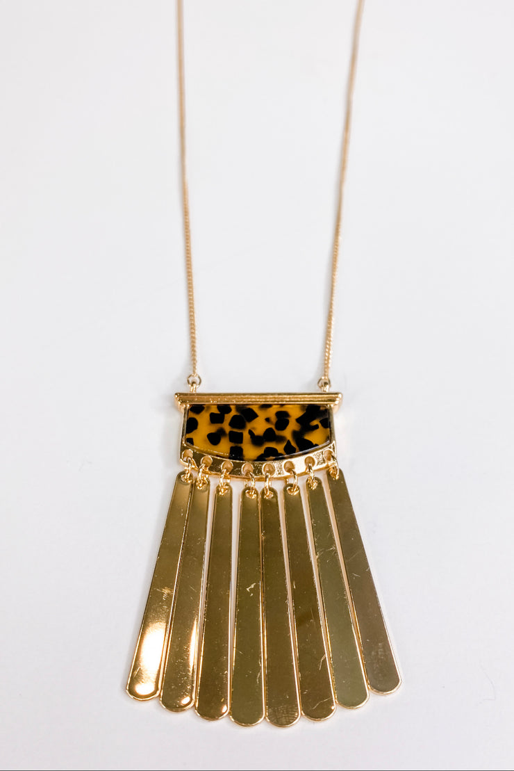 Karis Necklace - Blonde Tortoise - FINAL SALE