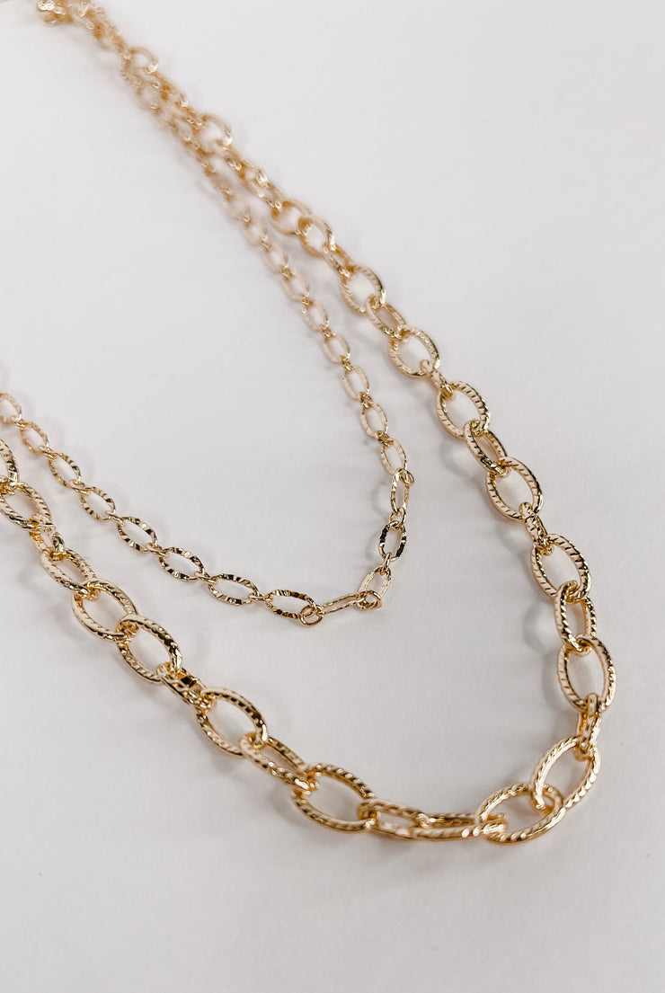 Shine So Bright Gold Layered Necklace - FINAL SALE