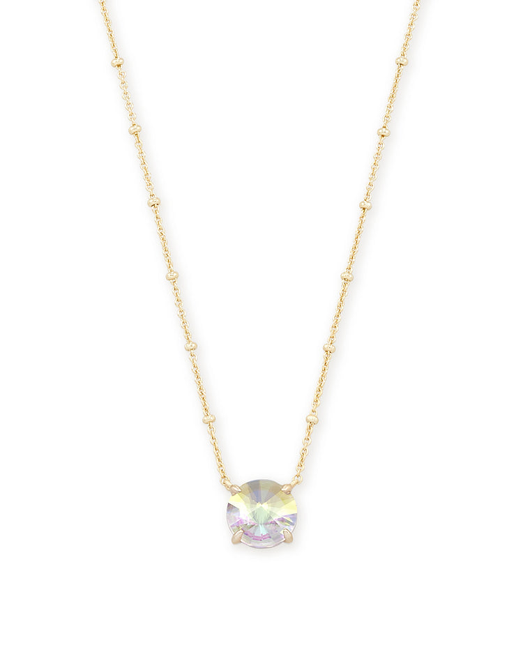 Jolie Pendant Necklace - Gold Dichroic