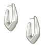 Kaia Hoop Earrings - Rhodium