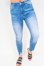 Emilia Distressed Jean - The Willow Tree Boutique