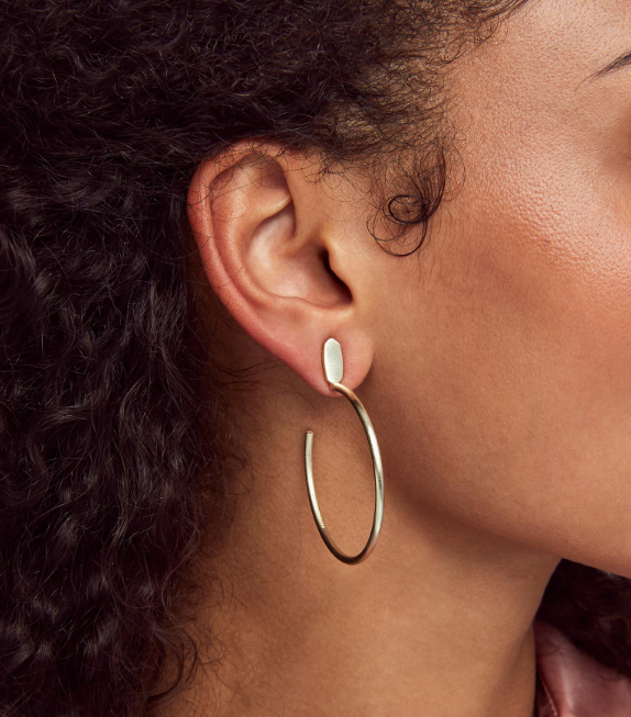 Small Pepper Hoop Earring - Rose Gold