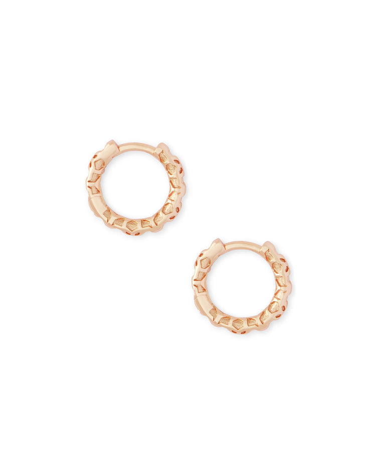 Maggie Huggie Earring - Rose Gold Filigree