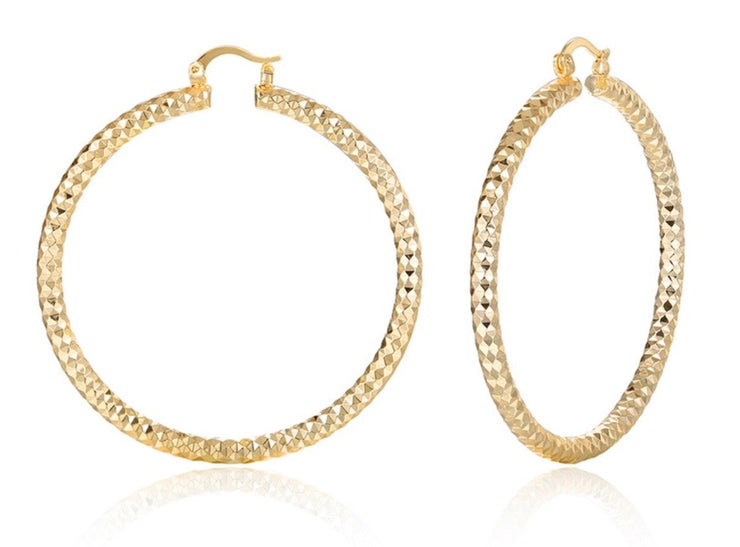 Michelle Gold XL Hoops