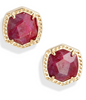 Davie Stud Earring - Gold Raspberry