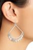 Sydney Open Frame Earring - Rhodium