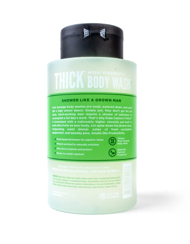 Thick High-Velocity Body Wash | Duke Cannon