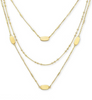 Fern Triple Strand - Gold