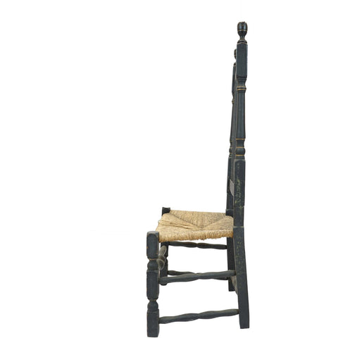 Antique Bannister Black Side Chair - Avery, Teach and Co.