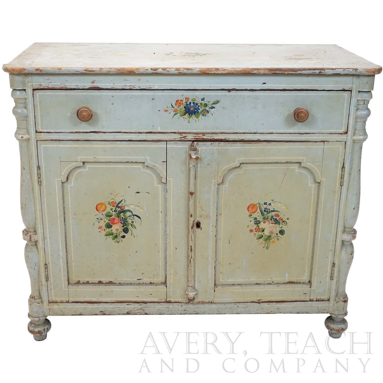 Early Antique Painted Wash Stand