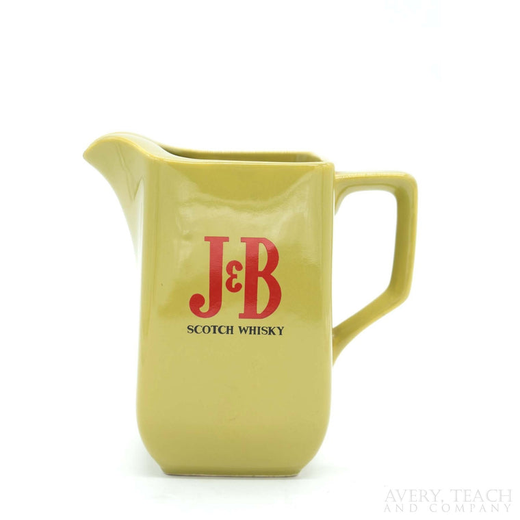 J & B Scotch Whiskey Pitcher