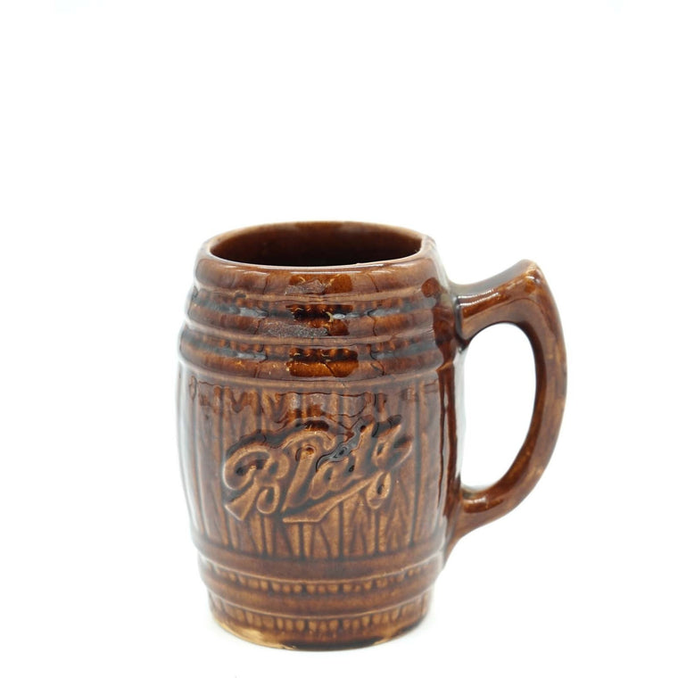 Blatz Brown Ceramic Beer Mug