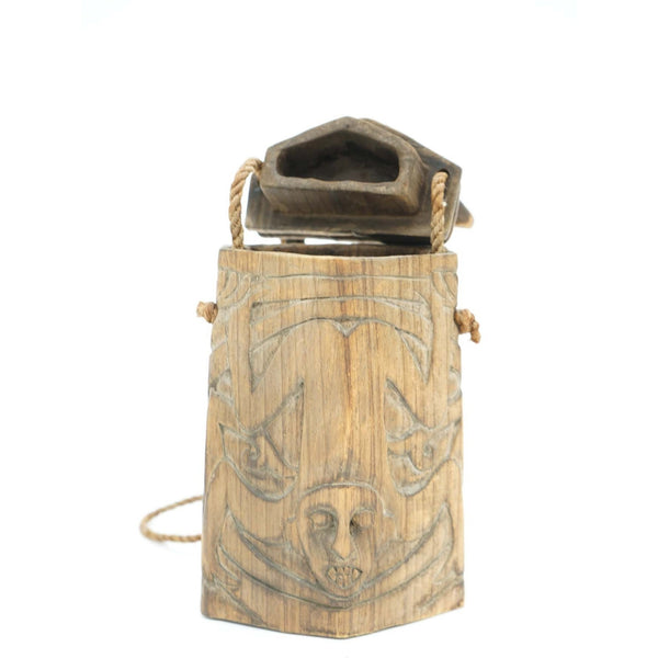 Hand Carved Wooden Tribal Box - Avery, Teach and Co.