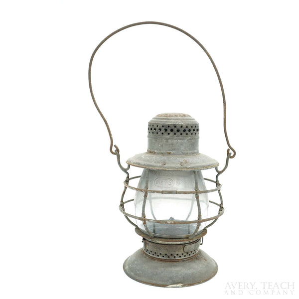 Antique Dietz No. 39 Standard New York Bell Bottom Railroad/Train Lantern - Avery, Teach and Co.