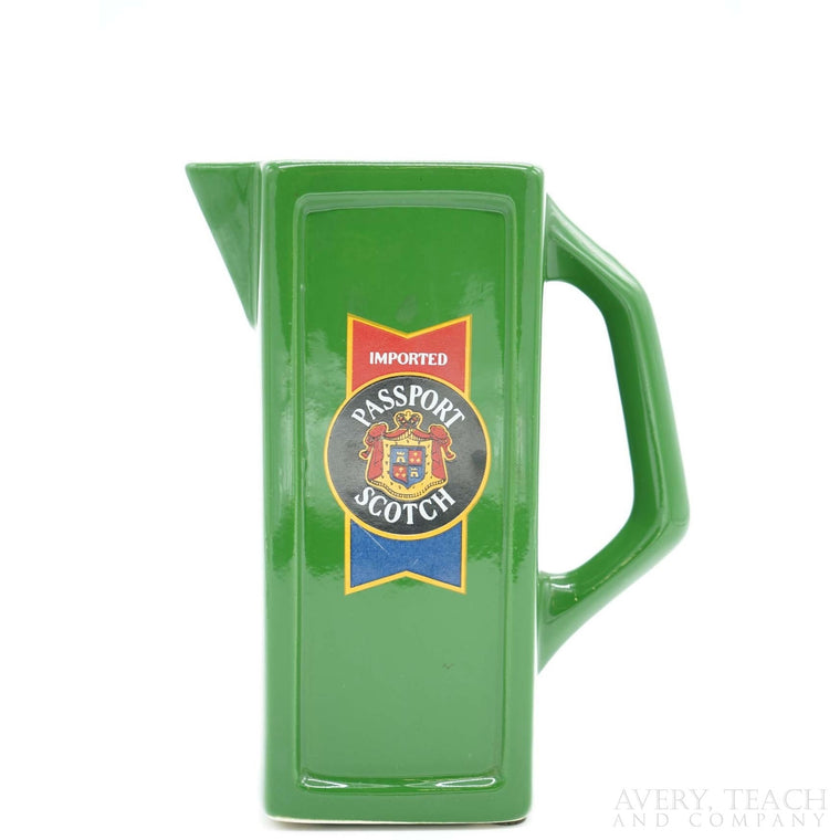 Imported Passport Scotch Green Ceramic Pitcher