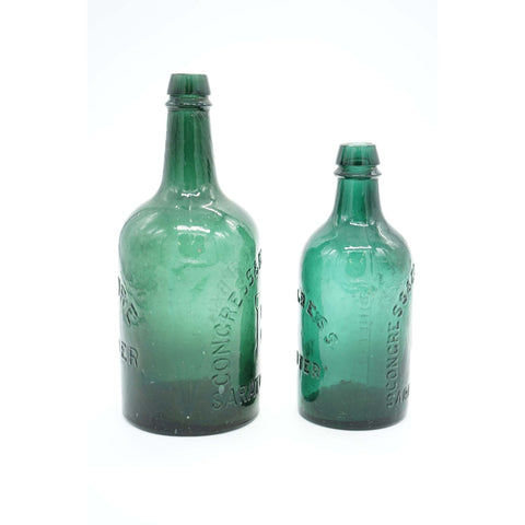 Pair of 1870's Congress Spring Co. Water Bottles - Avery, Teach and Co.
