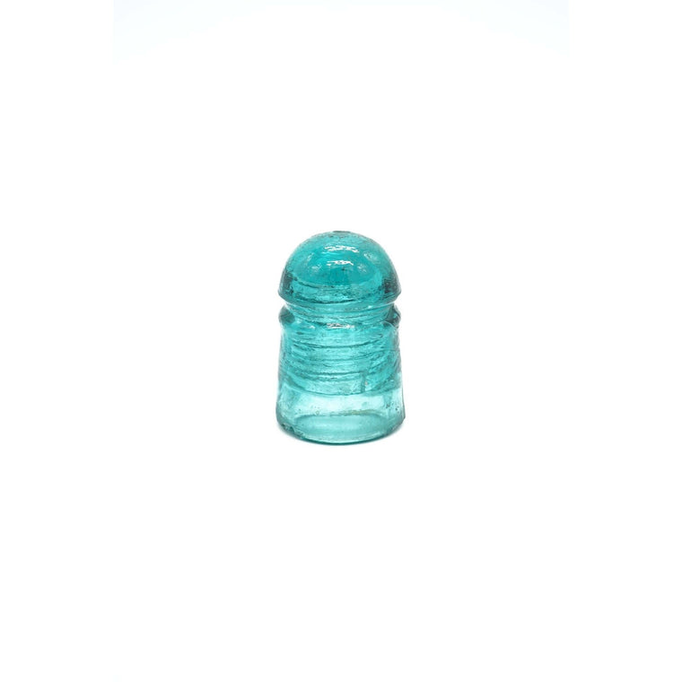 Vintage Blue Green Glass Insulator