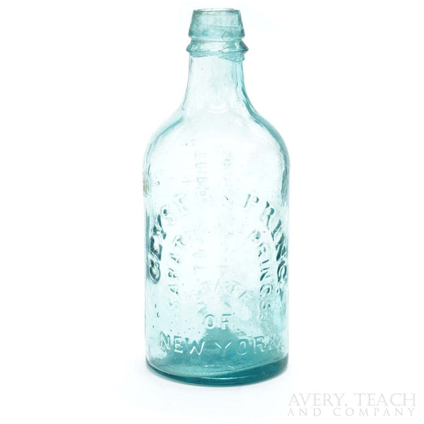 "Antique ""The Saratoga"" Spouting Springs Mineral Water Bottle"