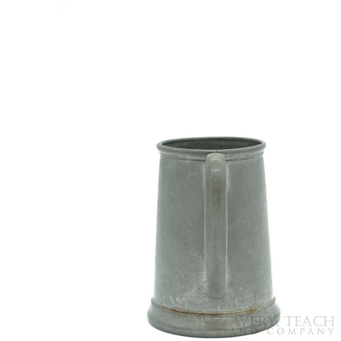 Vintage Pewter Glass Bottom Tankard - Avery, Teach and Co.