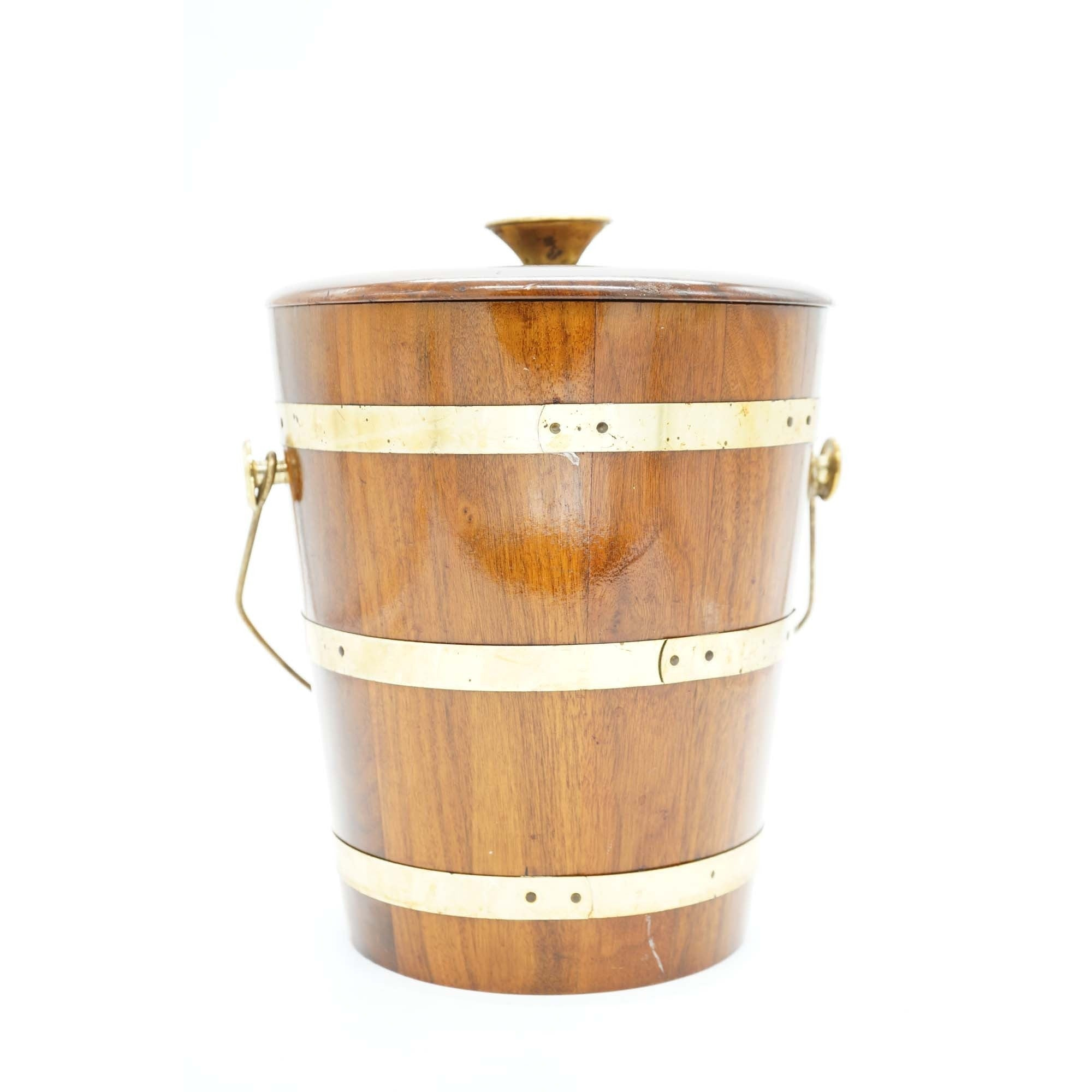 Vintage Walnut Vermilion Ice Bucket