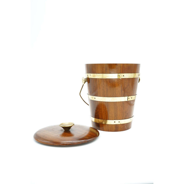 Vintage Walnut Vermilion Ice Bucket - Avery, Teach and Co.