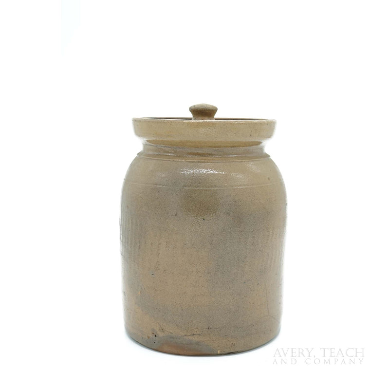 Antique Stoneware Crock Jug with Lid