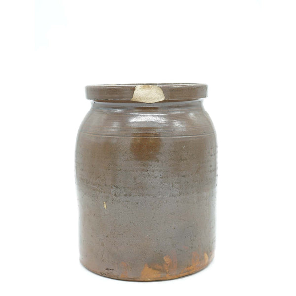 Antique Brown Stoneware Crock Jug - Avery, Teach and Co.