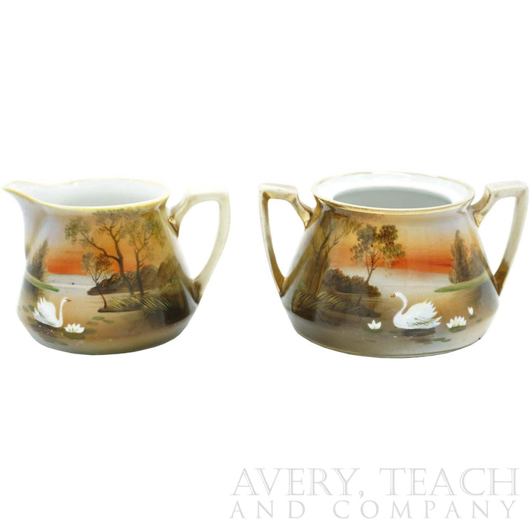 Cream and Sugar Bowl Nippon Set