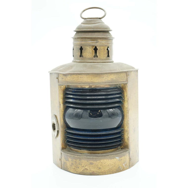 Antique Ship Corner Oil Lantern