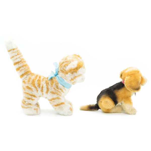 A Pair Steiff Cat & Dog Plush Toy - Avery, Teach and Co.
