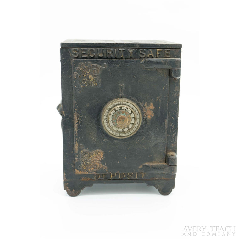 Cast Iron Security Safe Deposit Combo Coin Bank