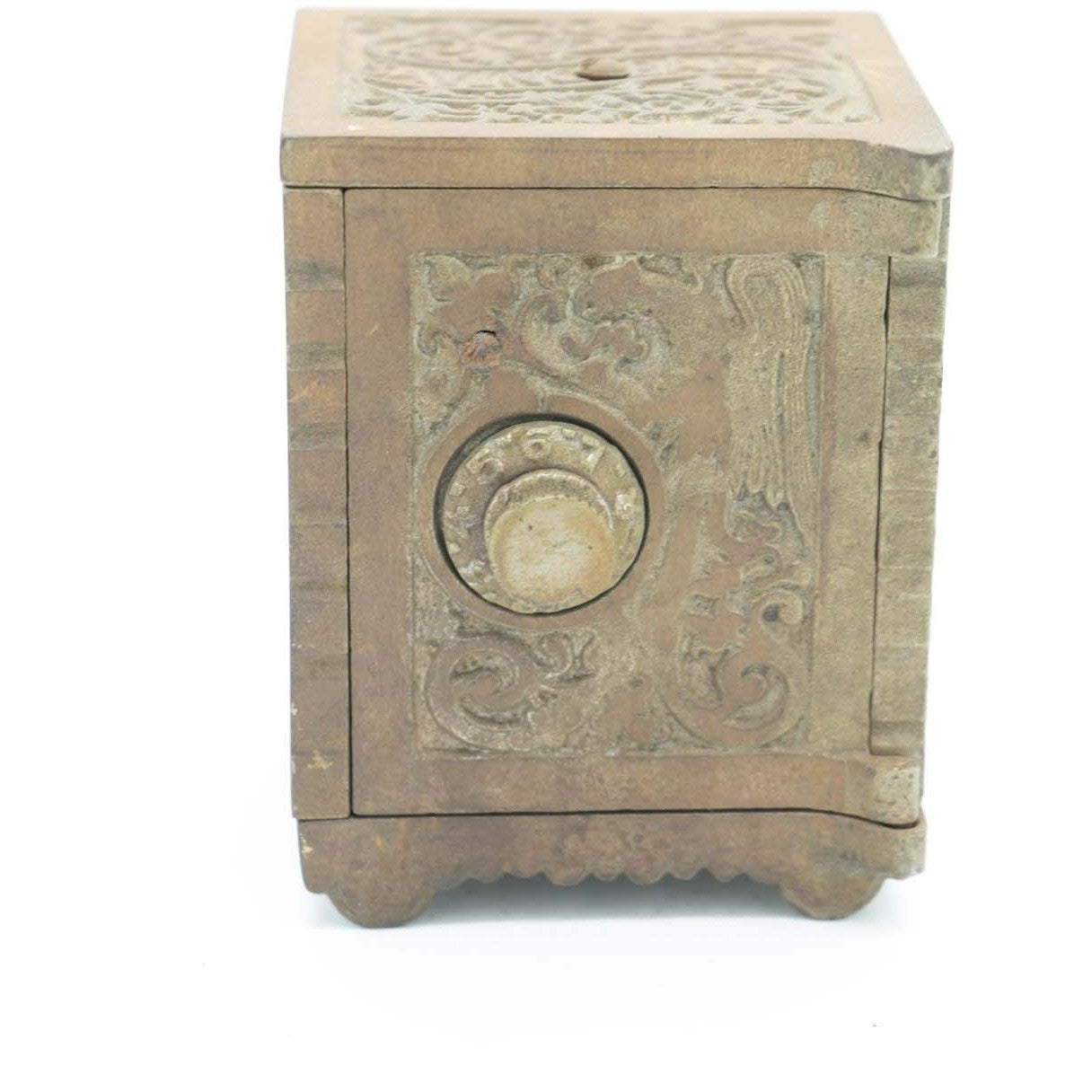 1900's Cast Iron Savings Bank Coin Safe