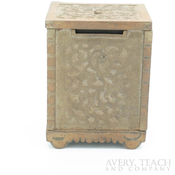 "1900's Cast Iron ""Savings Bank"" Coin Safe - Avery, Teach and Co."