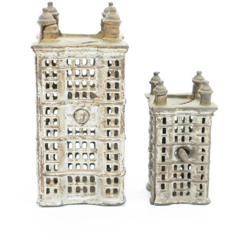Early 1900's Figural Skyscraper Savings Bank by A.C. Williams