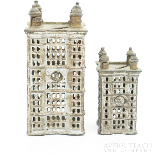 Early 1900's Figural Skyscraper Savings Bank by A.C. Williams - Avery, Teach and Co.