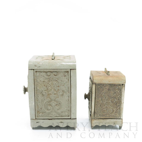 A Pair of Cast Iron Antique Combination Safe - Avery, Teach and Co.
