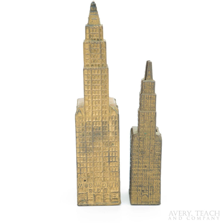 A Pair of Woolworth Building Cast Iron Banks