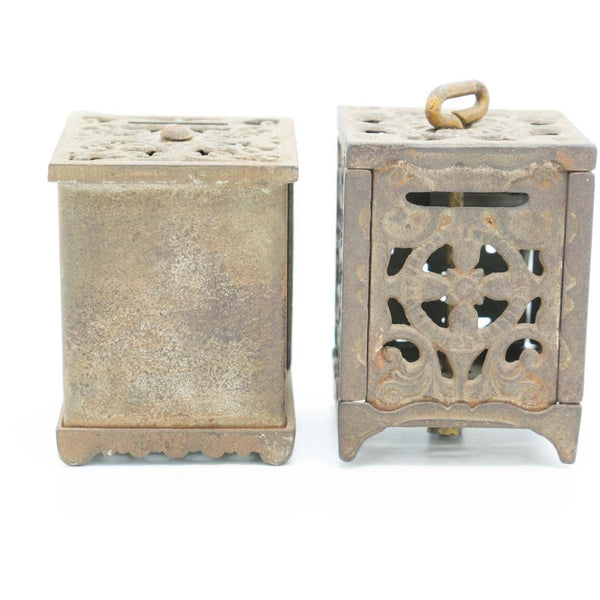 A Pair of Antique Cast Iron Penny Banks - Avery, Teach and Co.