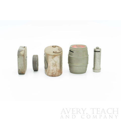 Lot of 5 Various Vintage Coin Banks - Avery, Teach and Co.