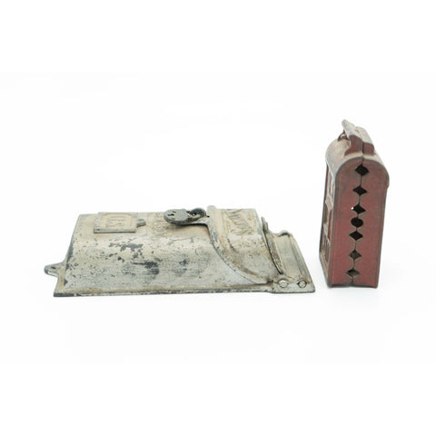 Pair of Antique Cast Iron U.S. Postal Mailbox Banks - Avery, Teach and Co.