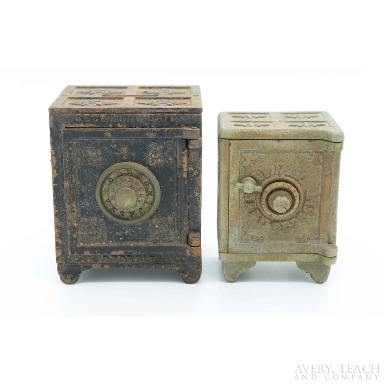 Pair of Cast Iron Security Deposit Safe Banks