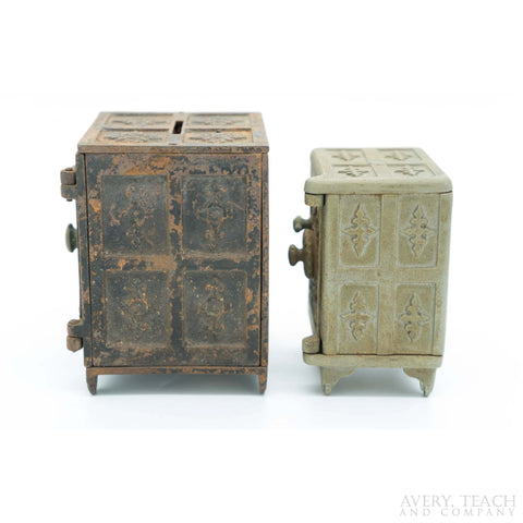Pair of Cast Iron Security Deposit Safe Banks - Avery, Teach and Co.