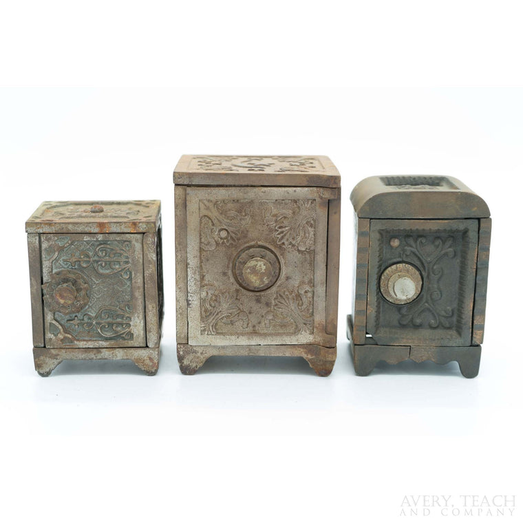 Lot of 3 Cast Iron Combination Banks