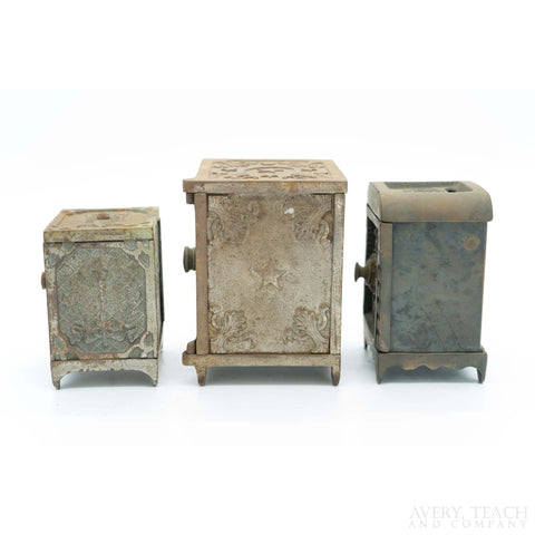 Lot of 3 Cast Iron Combination Banks - Avery, Teach and Co.