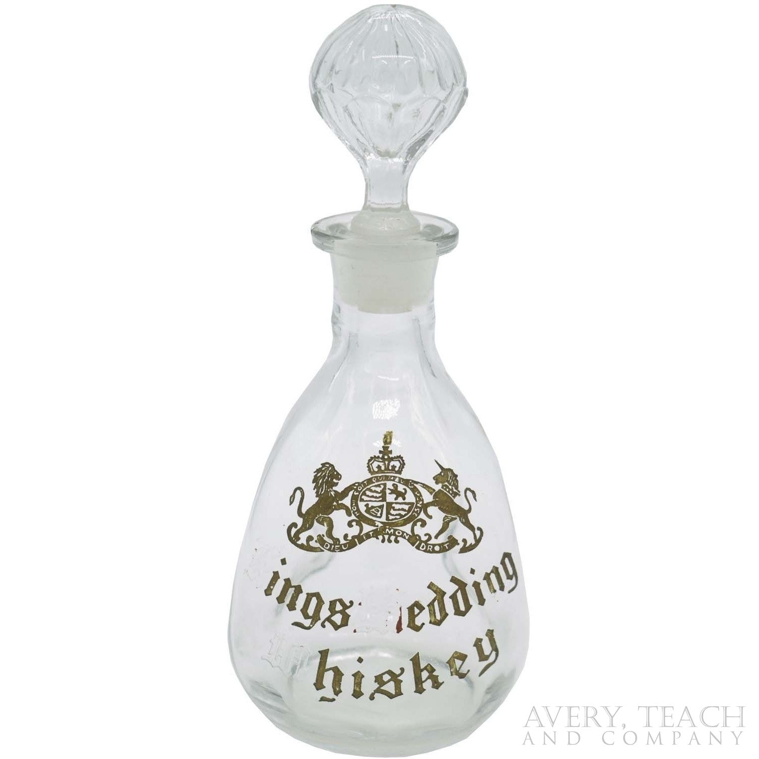Antique Kings Wedding Whiskey Decanter