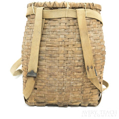 Vintage Creel Woven Ice Fishing Basket Backpack - Avery, Teach and Co.
